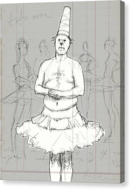 Dada Art Canvas Print - Tutu Man by H James Hoff