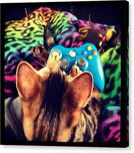 Xbox Canvas Print - Tuukka Wants To Play Today #xbox by Kristine Dunn