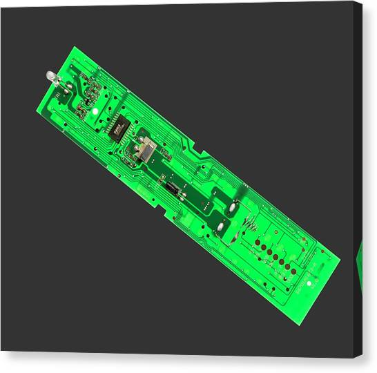 Keypad Canvas Print - Tv Remote Control Printed Circuit Boar by Sheila Terry