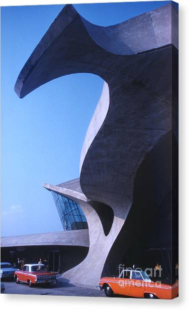 Futurism Canvas Print - Twa Terminal At Idlewild Airport 1961 by The Harrington Collection