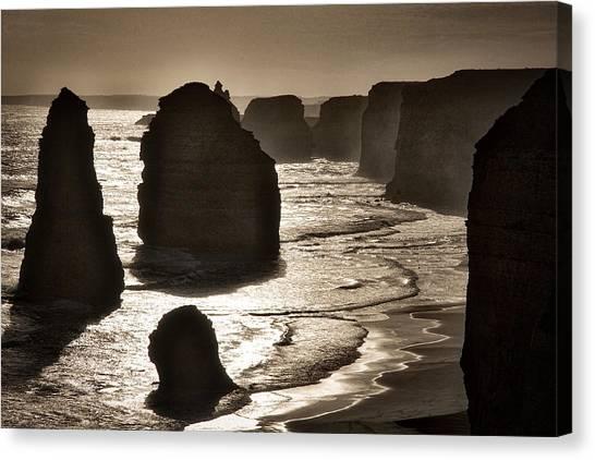 Twelve Apostles #3 - Black And White Canvas Print