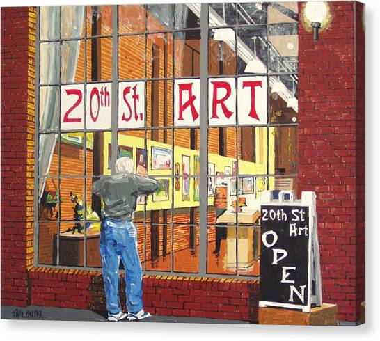 Twentieth Street Gallery Canvas Print by Paul Guyer