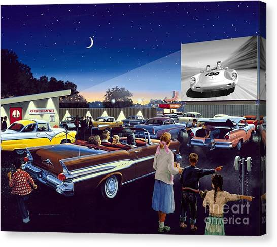 Artist Michael Swanson Canvas Print - Twenty Minutes To Show Time by Michael Swanson