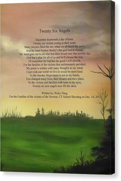 Twenty Six Angels Canvas Print by Ricky Haug