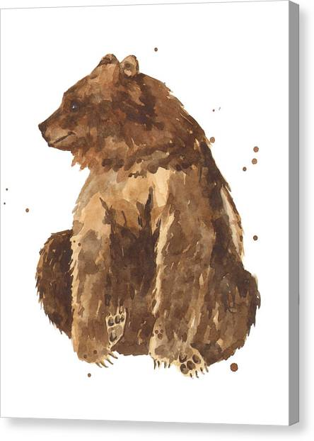 Bears Canvas Print - Twiddletoes by Alison Fennell