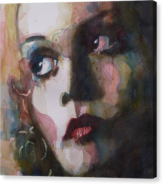 Vogue Canvas Print - Twiggy Where Do You Go My Lovely by Paul Lovering
