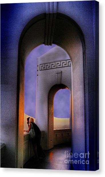 Twilight Arches Canvas Print