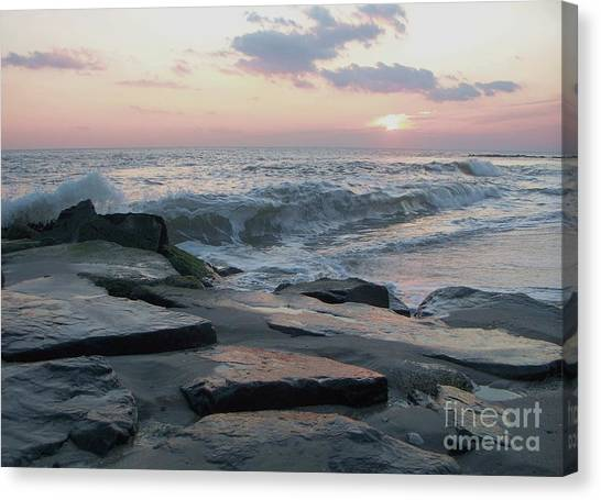 Twilight At Cape May In October Canvas Print