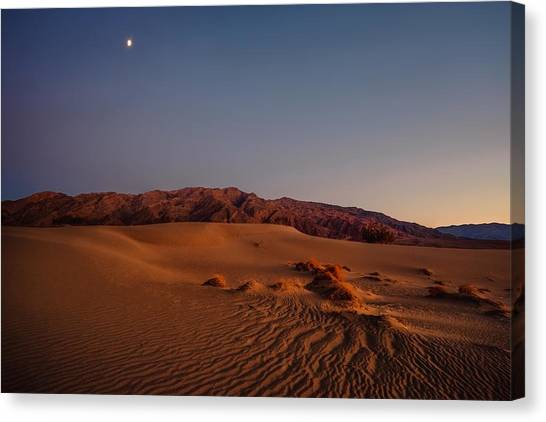 Twilight At The Dunes  Canvas Print