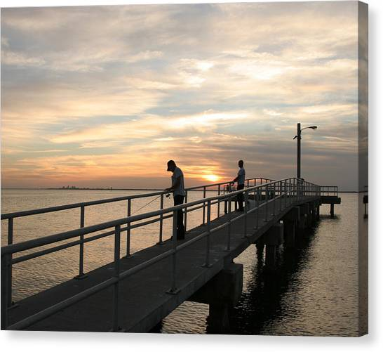 Twilight Fishing Canvas Print
