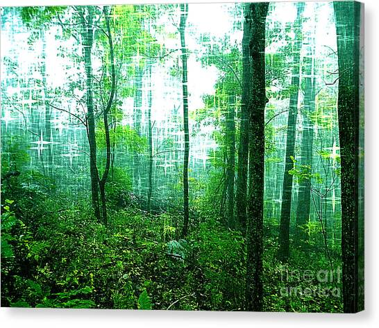 Twilight Forest Canvas Print by Lorraine Heath