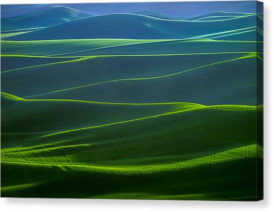 Twilight Hills Of The Palouse Canvas Print