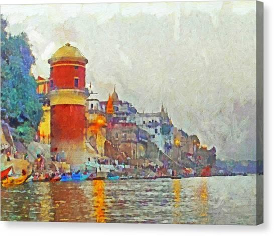 Twilight In Varanasi Canvas Print