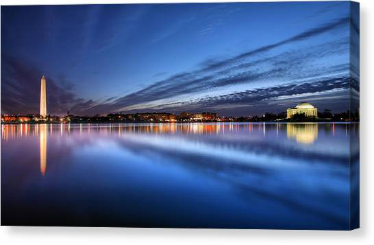 Jefferson Memorial Canvas Print - Twilight  by JC Findley