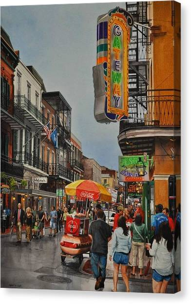Twilight On Bourbon Canvas Print