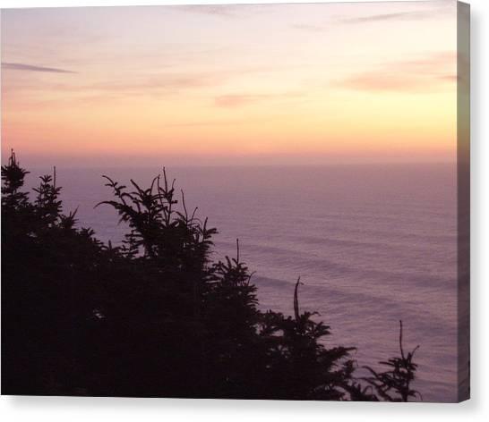 Twilight On The Coast Canvas Print by Yvette Pichette