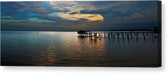Twilight On The Neuse River Canvas Print