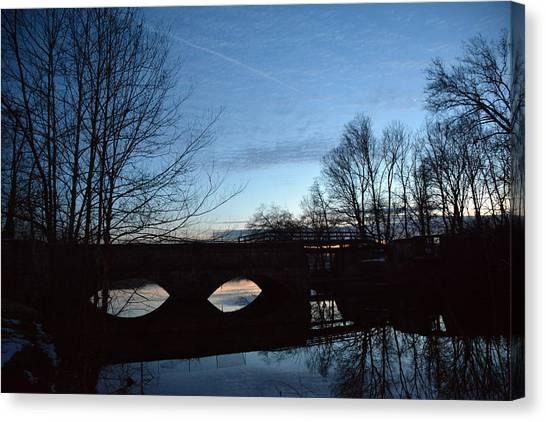 Twilight On The Potomac River Canvas Print by Bill Helman