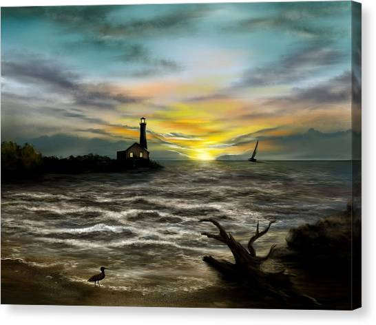 Twilight On The Sea Canvas Print
