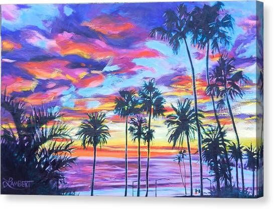Twilight Palms Canvas Print