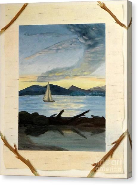 Twilight Sailing Canvas Print by Stephen Schaps