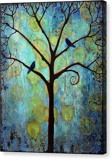 Ravens Canvas Print - Twilight Tree Of Life by Blenda Studio