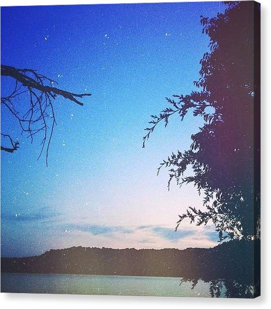 Stars Canvas Print - Twilight...dale Hollow Lake, Ky by Amber Flowers