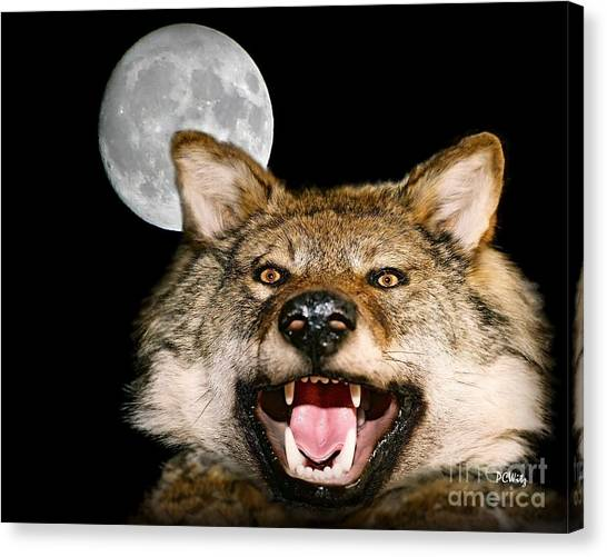 Twilight's Full Moon Canvas Print