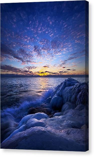 Ice Caves Canvas Print - Twilight's Soft Breath by Phil Koch