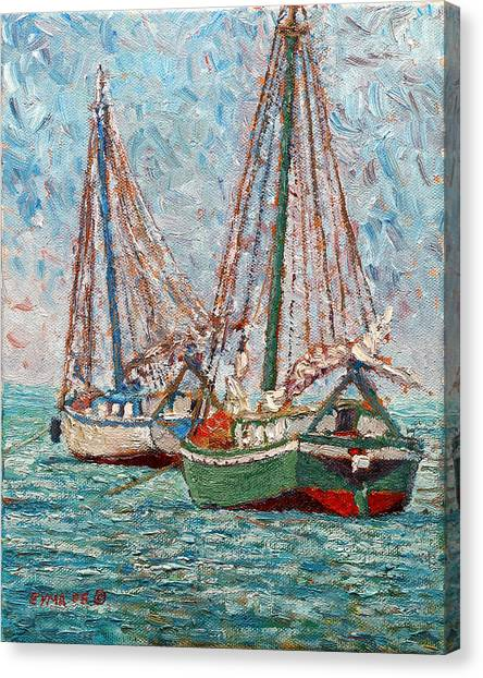 Twin Boats Canvas Print