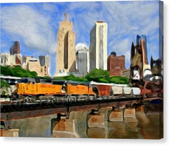 Twin Cities Train Canvas Print