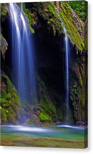 Twin Falls Canvas Print