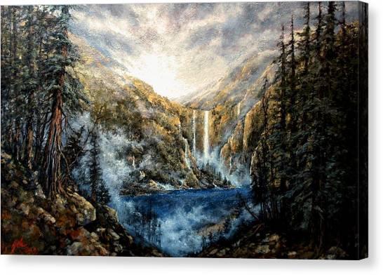 Canvas Print - Twin Falls by Jim Gola