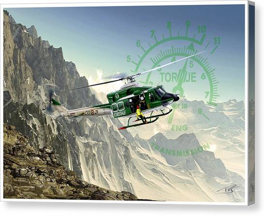 Iraq Canvas Print - Twin Huey by Peter Van Stigt