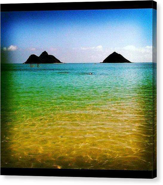 Hawaii Canvas Print - Twin Islands #hawaii #kailua #beaches by Brian Governale