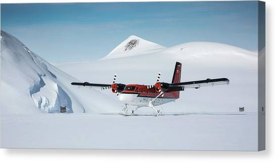 Antarctica Canvas Print - Twin Otter Aircraft Landing by Peter J. Raymond