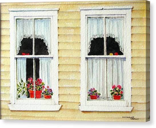 Twin Peeks Canvas Print