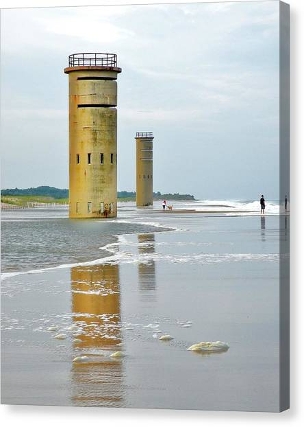 Twin Towers At Whiskey Beach Canvas Print