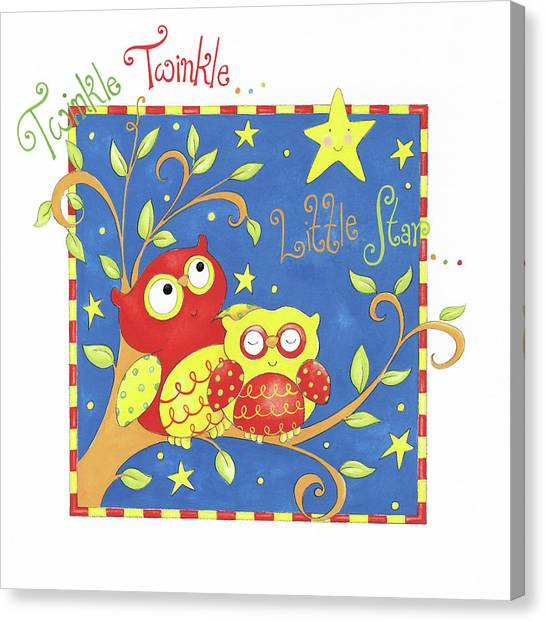 Nursery Rhyme Canvas Print - Twinkle Twinkle Little Star by P.s. Art Studios