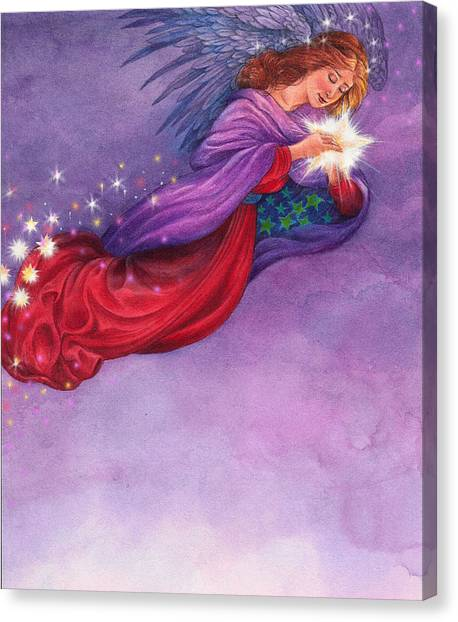 Twinkling Angel Canvas Print