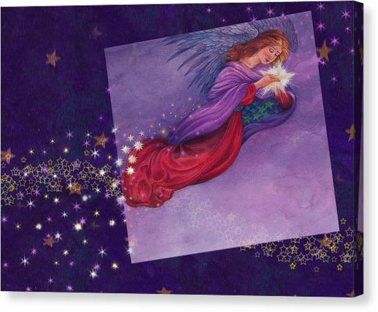 twinkling Angel with star Canvas Print