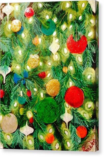 Twinkling Christmas Tree Canvas Print