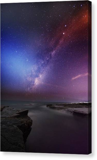 Twins Color Milky Way Canvas Print by Alex Teng