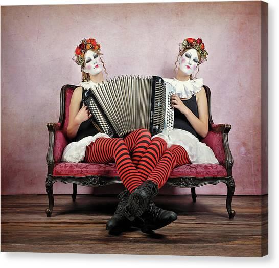 Twins Canvas Print by Monika Vanhercke