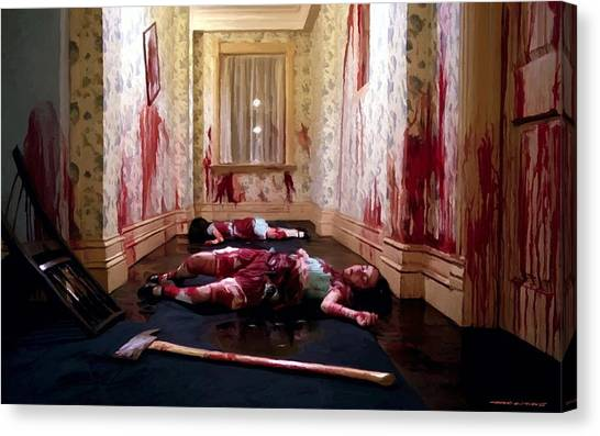 Twins Murdered @ The Shining Canvas Print