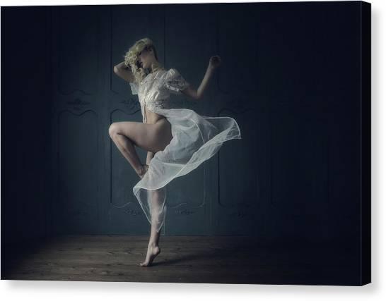 Dress Canvas Print - Twirl by Kenp