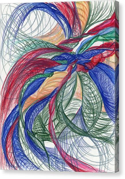 Twirls And Cloth Canvas Print