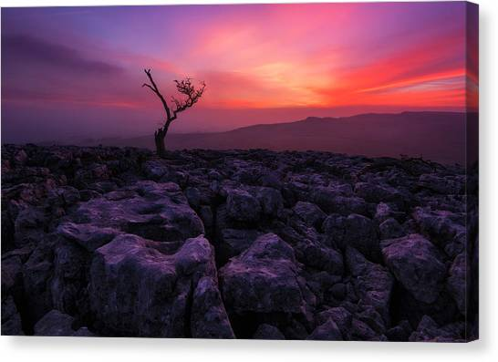 Barren Canvas Print - Twisleton Scar Glow by Therion