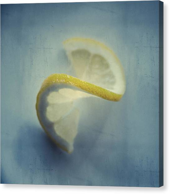 Twisted Lemon Canvas Print