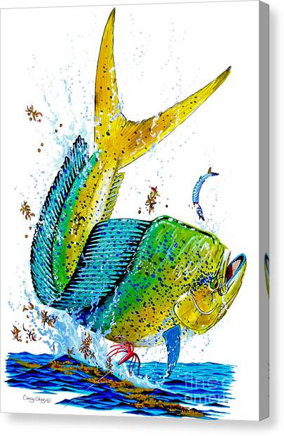 Tiger Sharks Canvas Print - Twisted Mahi by Carey Chen